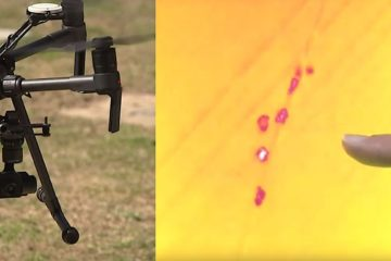 drone camera thermique retrouve enfant disparu