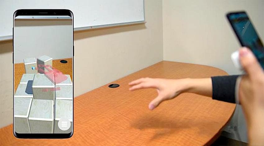 portal-ble systeme realite augmentee smartphone interaction objets virtuels