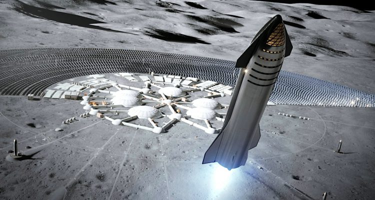 spacex starship atterrissage lune 2022