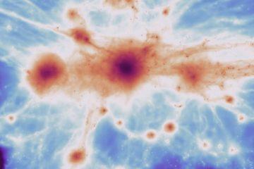 filament gaz toile cosmique univers