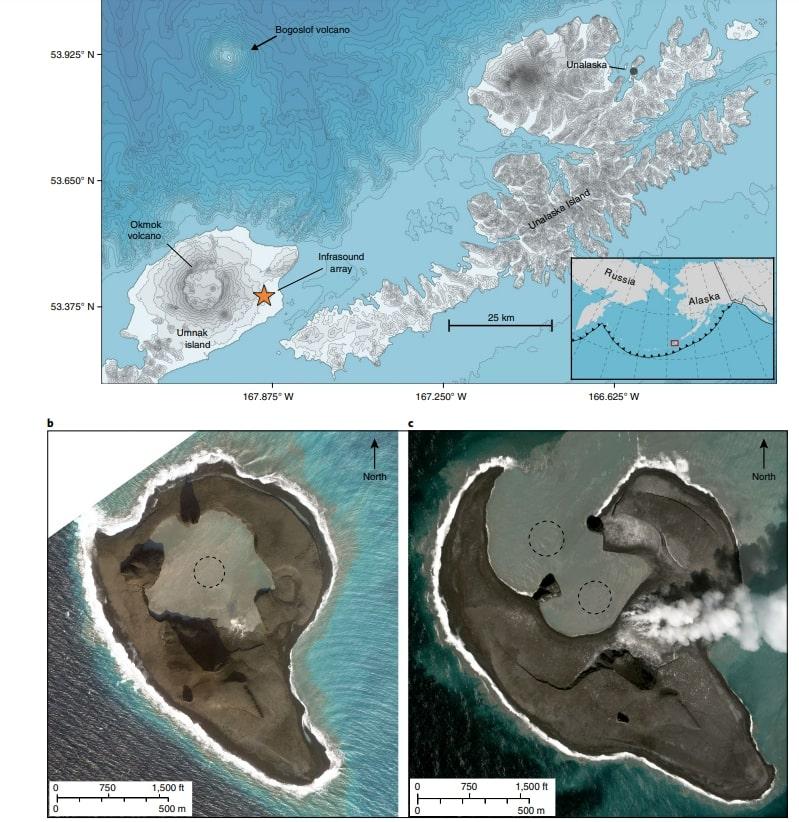 volcan bogoslof alaska carte satellite eruption