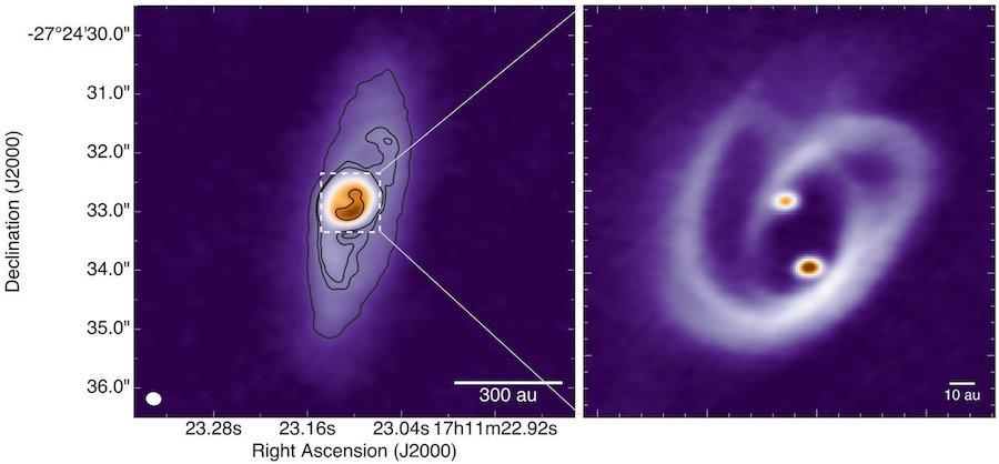 zoom disque circumbinaire BHB2007 ALMA