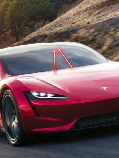 tesla roadster systeme laser elimination saletes