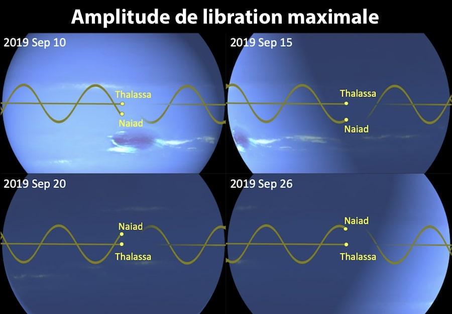 amplitude maximale distance lunes neptune thalassa naiade
