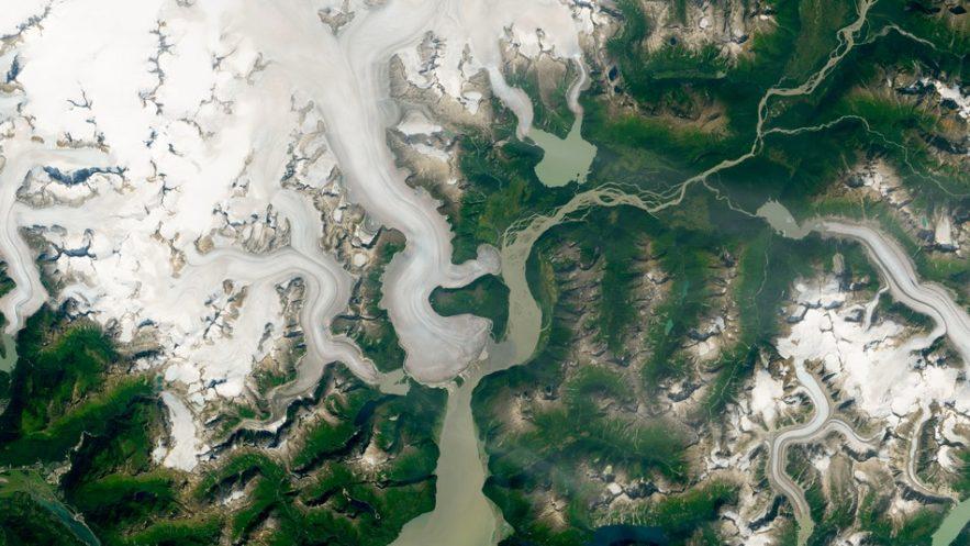 glacier retrait taku rechauffement climatique