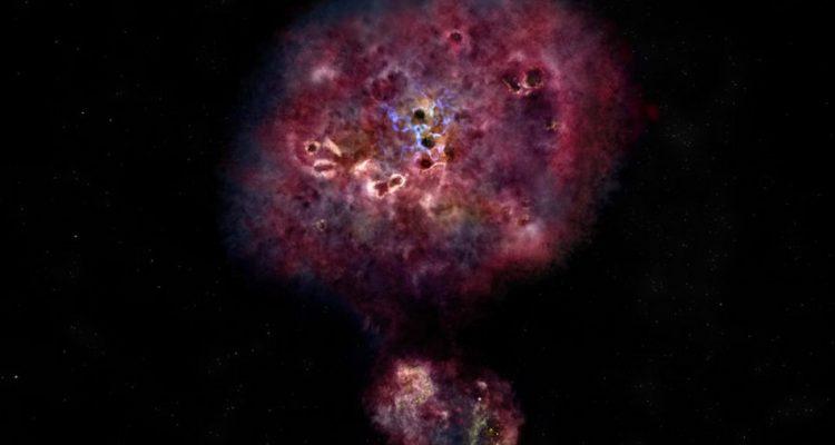 galaxie formation etoiles univers primitif jeune big bang massif massive