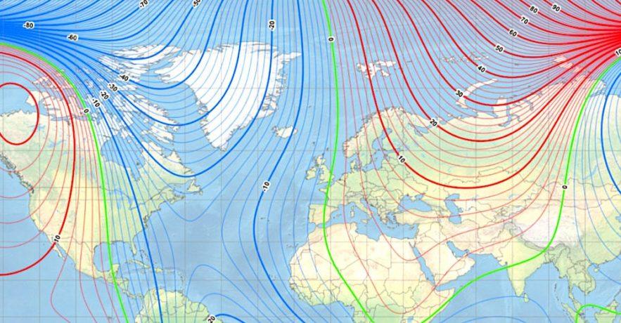 pole nord magnetique deplacement rapide siberie carte poles 220