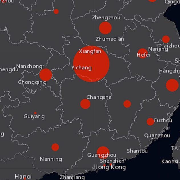 carte suivi cas coronavirus chinois 2020