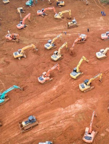 construction hopital chine epidemie virus
