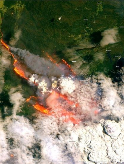 feux espace australie