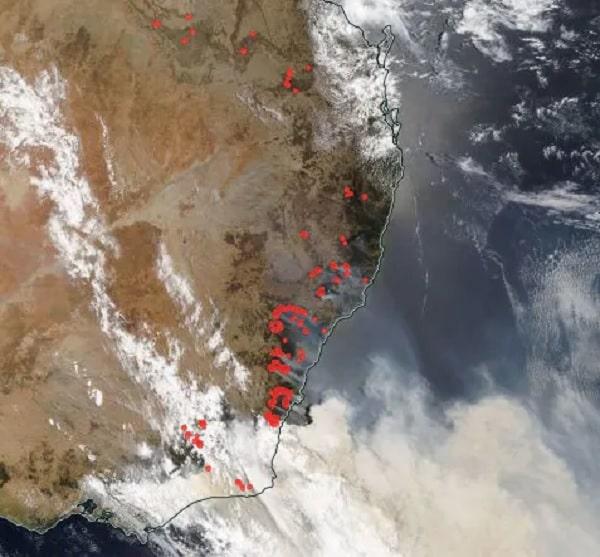 feux australie fumee