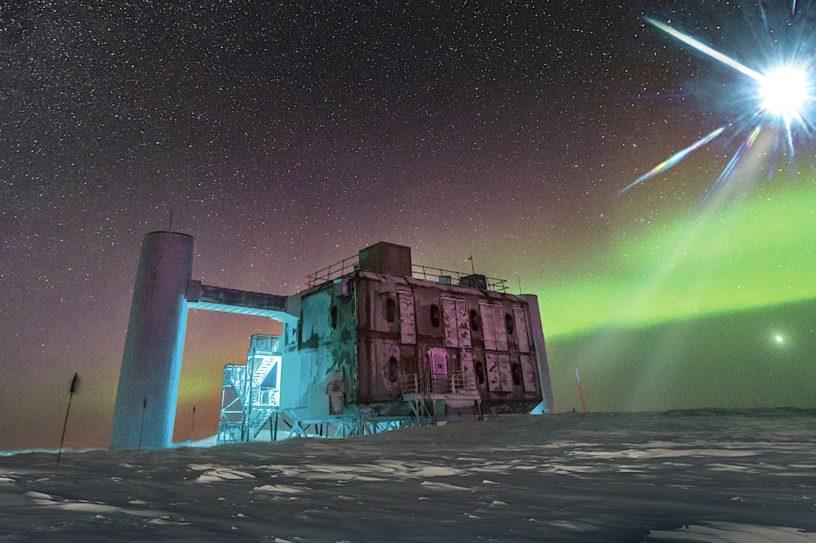 icecube neutrino observatory decouverte particules inexpliquables-2020