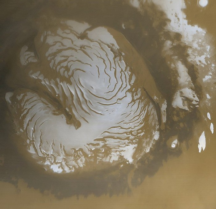 mars pole nord glace