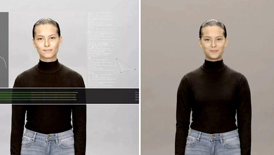 neon humain artificiel assistant virtuel ultra-realiste