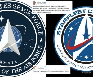 united states space force vs starfleet logo star trek ressemblance
