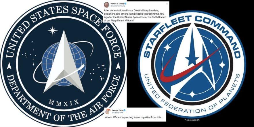 united states space force vs starfleet logo star trek ressemblance