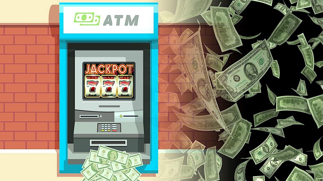 argent jackpotting piratage distributeurs billets banque
