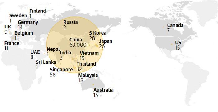 cas coronavirus monde