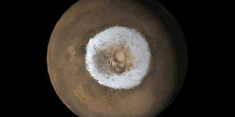 glace sud mars