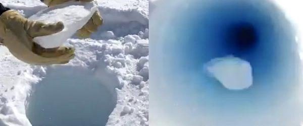 morceau glace jete dans trou antarctique sons etonnants emis