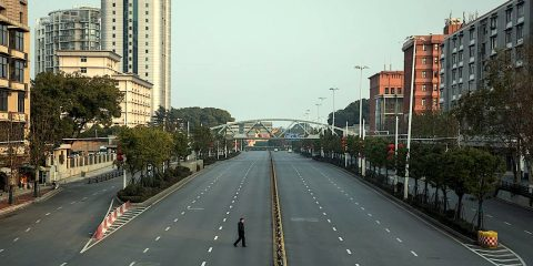 wuhan chine ville fantome images drone