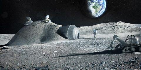 étude urine matériau construction bases lunaires