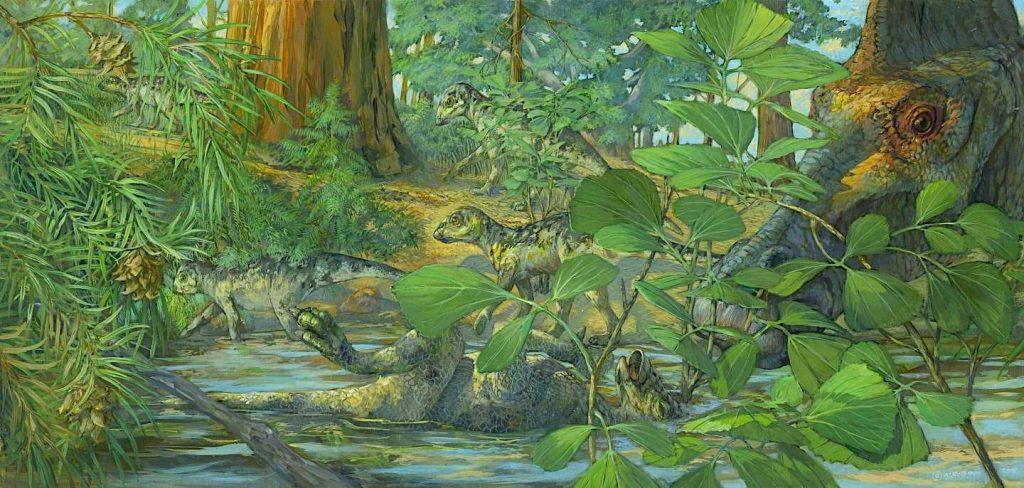 reconstruction site nidification hypacrosaurus stebingeri
