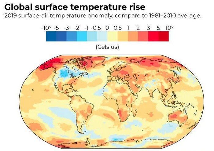 rechauffement climatique climat température