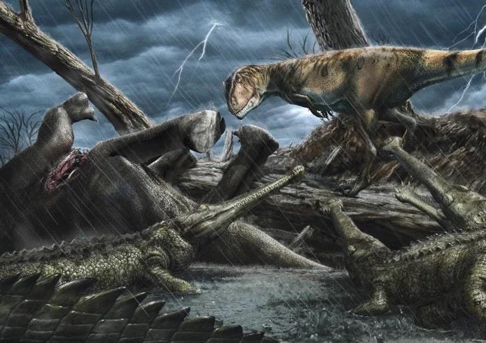 carcharodontosaurus crocodiles