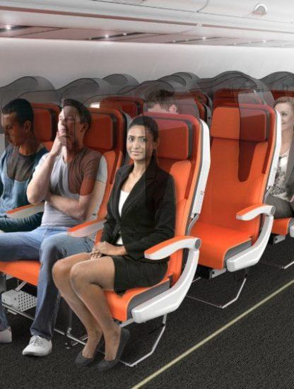 sièges avions distanciation sociale