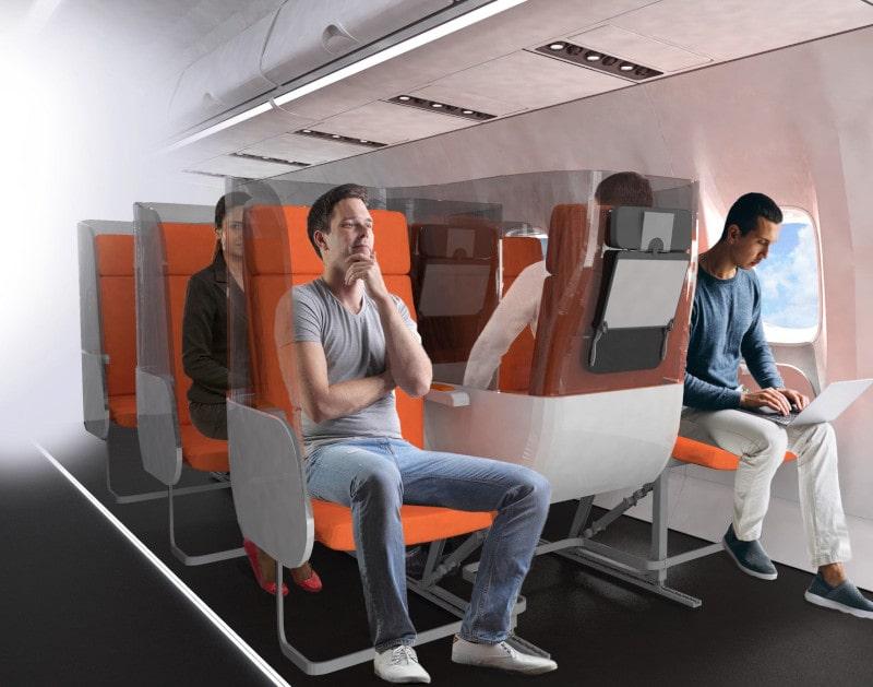 sièges avion distanciation sociale