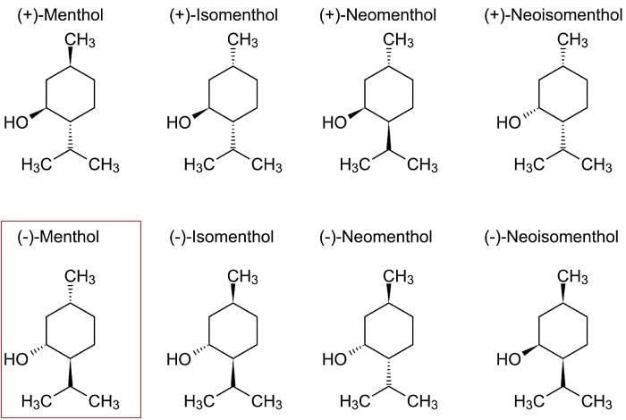structure menthol