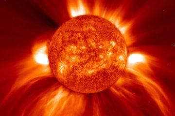 température vent solaire distribution énergie électrons