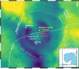 anomalies gravitationnelles cratère chicxulub