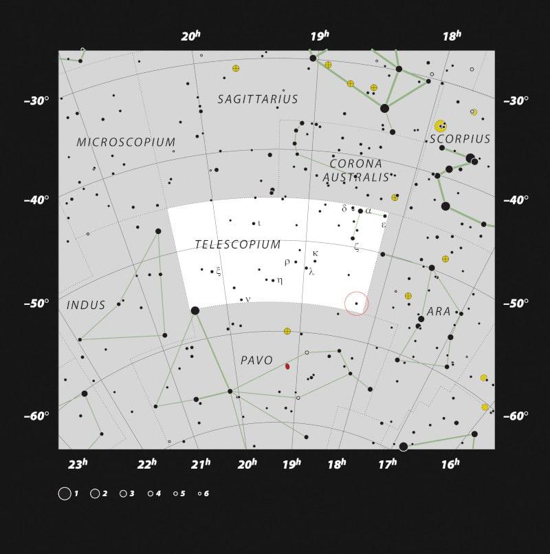 carte position trou noir HR6819 proche Terre