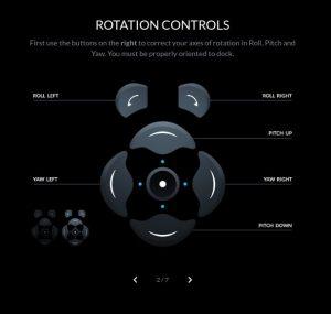 contrôle rotation Crew Dragon simulateur