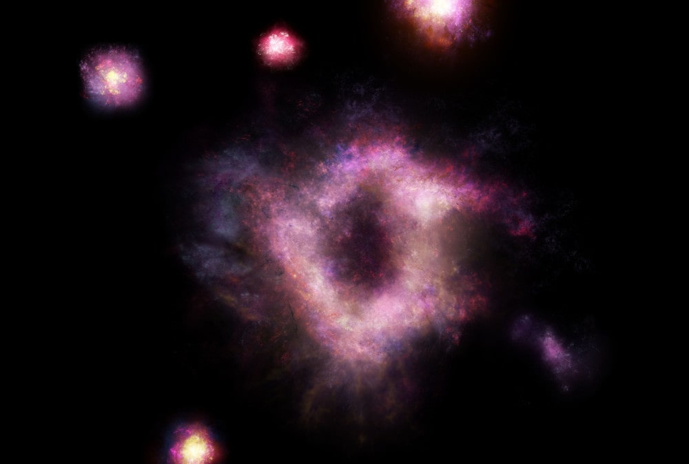 galaxie anneau collisionnelle univers primitif
