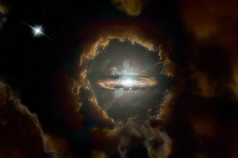 galaxie disque rotatif univers primitif