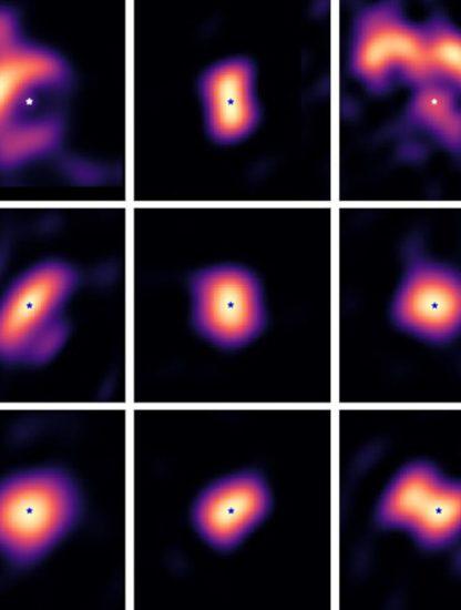 images disques formation planètes