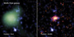 observations galaxie disque univers primitif ALMA Hubble