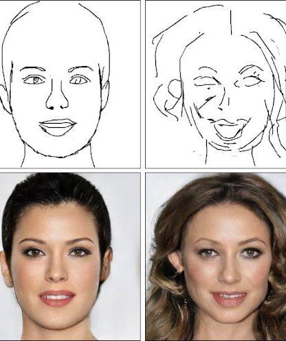IA photo portrait dessin