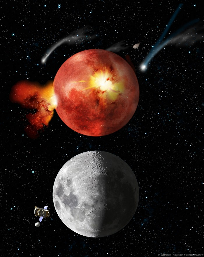 lune bombardement tardif