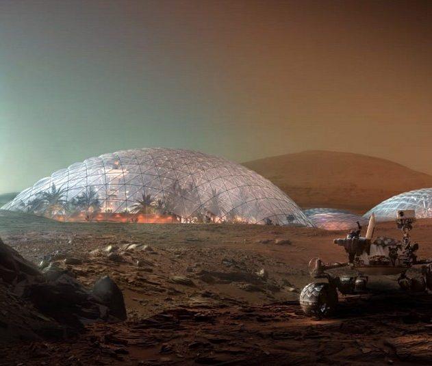 dome ville dubai mars martiene ville biodome concept architecte planete rouge