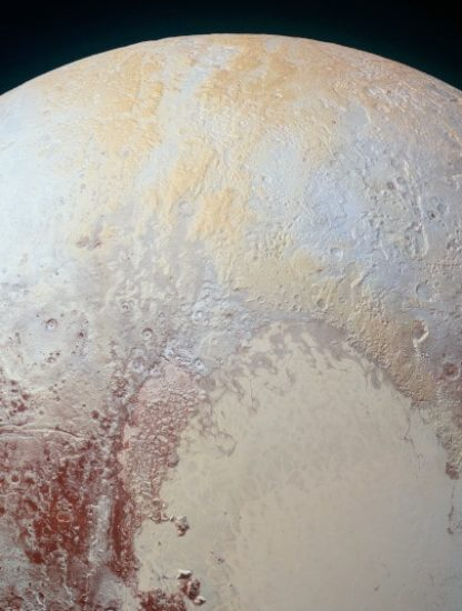théories formation pluton océan glace