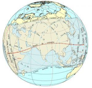 bande centralité éclipse annulaire juin 2020