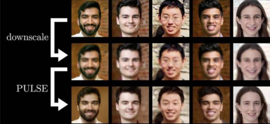IA création photos réalistes depuis photo basse résolution