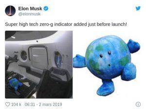 peluche mascotte SpaceX