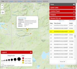 activité sismique mai parc yellowstone