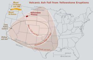 nuage cendres éruption volcan yellowstone
