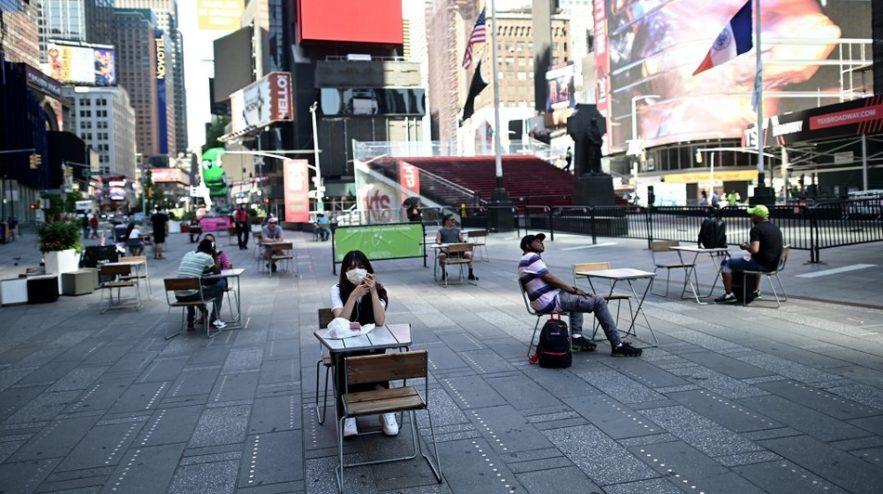 times squares new york usa coronavirus pandemie covid-19 sars-cov-2